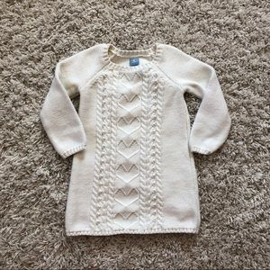 Cream Gap sweater dress with heart detail size 3T